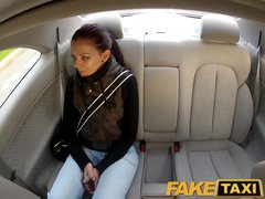 Preview 1 of Faketaxi Teen Student With Small Body Talked Into Sex By Night Taxi Man