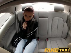 Preview 3 of Faketaxi Teen Student With Small Body Talked Into Sex By Night Taxi Man