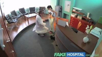 FakeHospital Sexy patient bent over the receptionists desk and fucked