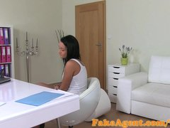 FakeAgent Sexy tanned babe gets Creampie in Casting!