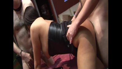 UK swingers gangbang party in a sex club