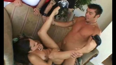 Swinger Brunette MILF Makes Hubby Happy