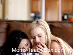 Preview 8 of Mom And Son Tag Team Teen Hottie