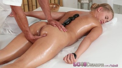 Love Creampie College girl orgasms as...
