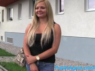 PublicAgent Jenna hot blonde in black underwear fucking outside