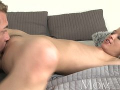 MOM Incredible hot mature blonde has multiple orgasms then a creampie