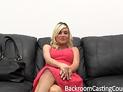 Preview 1 of Pregnant Milf Anal Threeway Casting