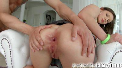 AssTraffic anal newcomer gets her ass gaped by huge cock