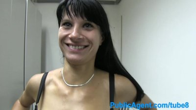PublicAgent Vanessa sucking and fucking in a utility cupboard