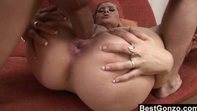 Naturally Busty Blonde Plowed Hard