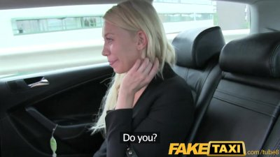 FakeTaxi Hot blonde sucks dick and takes it from behind in taxi