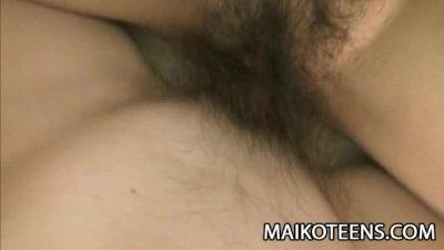 Chisa Yamaoka - Exotic Japan Teen Hairy Pussy Plugged