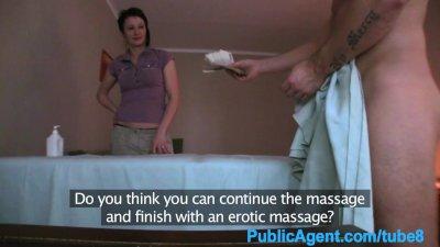 PublicAgent Mature masseuse gives a happy ending