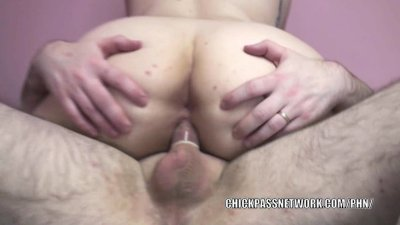 Plump coed Christine Rhydes is taking a stiff cock