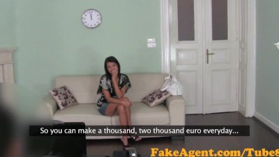 FakeAgent Business woman has the fuck of her life in Casting interview