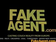 FakeAgent Shy blonde babe tricked into taking Huge cock in Casting
