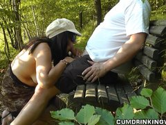 Dogging wife fucked in a public park