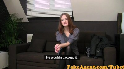 FakeAgent Fiery Redhead babe will only suck cock in Casting interview