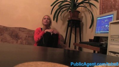 PublicAgent Home Alone single white female fucked by computer repair guy