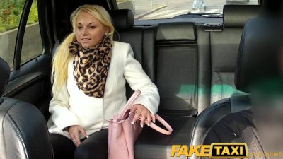 FakeTaxi Hot blonde sucks cabbie's dick on backseat