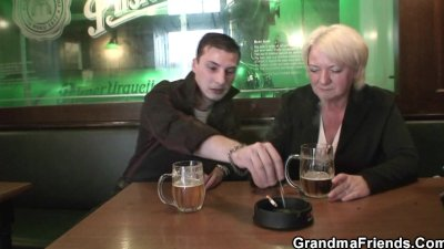 Two dudes pick up and bang boozed old grandma