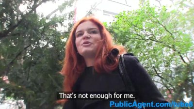 PublicAgent Redhead fucked in