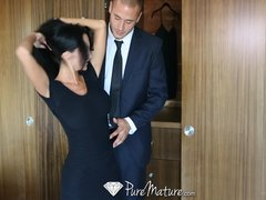 Preview 4 of Hd - Puremature Busty Ava Addams Bounces Her Ass On Mans Cock