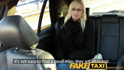 FakeTaxi Blonde with glasses g