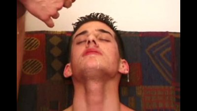 Amateur straight twinks facial from pals
