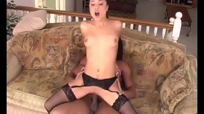 Sex in thigh high stockings an