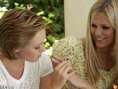 Preview 5 of Mommysgirl Lesbian Mom Helps Teens Find G-spot