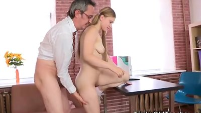 Augustina gets a faceful of cum from her teacher