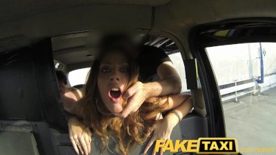 FakeTaxi Swingers love watching big taxi cock