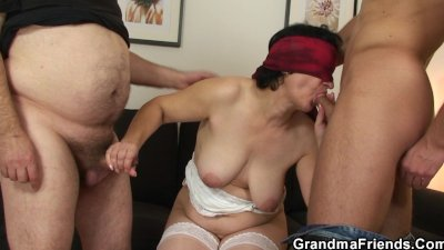 Her hairy old pussy is toyed and fucked