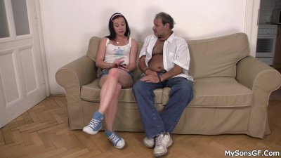 She rides father in law cock