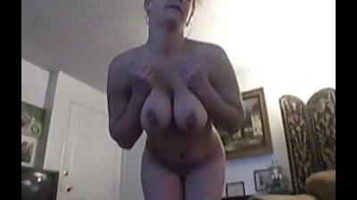 busty amateur Gabriella jerking her pussy with dildo