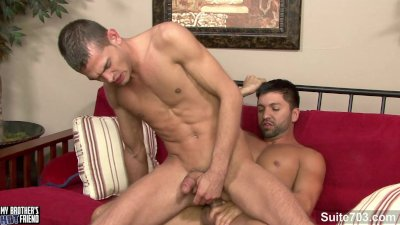 Passionate gay gives blowjob
