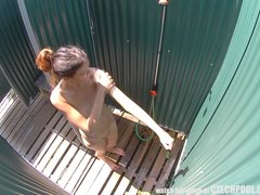 Preview 4 of Long Haired Teen Cought In Shower