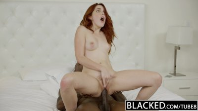 ebonyED Red Head Model Amarna Miller Interracial Creampie