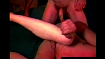 Hairy straight redneck sword fighting with gay mature