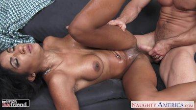 Brunette cutie Sadie Santana gets nailed