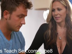 Preview 4 of Teen Couple Gets Sex Lessons From Hot Mom