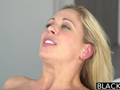 Preview 7 of Ebonyed Hot Southern Blonde Cherie Deville Takes Big Ebony Cock