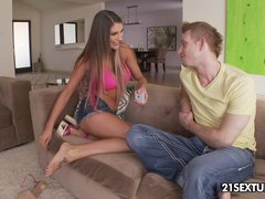 Preview 1 of Smoking Hot August Ames Enjoys A Good Hardcore Sex