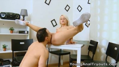 Young Anal Tryouts - Violetta is a sexy blonde