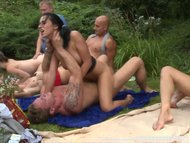 The Swinger Experience Presents Hardcore Group Garden Orgy