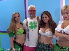 St Patrick s pornstar orgy party  Vol 5
