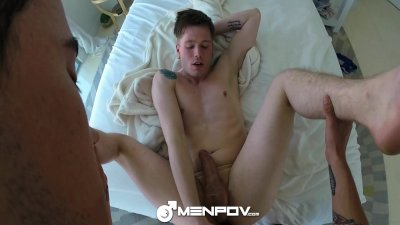 HD MenPOV - Cute guys fuck after a long hike