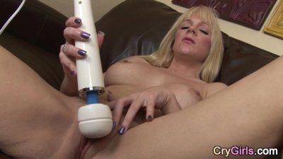 Orgasm with tears for blonde