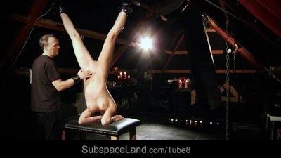 Slave girl punished for submission in BDSM